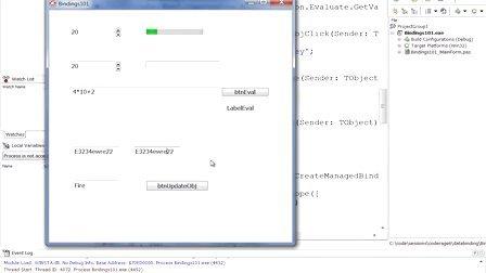 Delphi VCL和FireMonkey中的LiveBindings