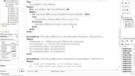 Delphi中全新的RTL线程支持