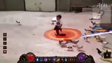暗黑破坏神3恶搞无极限:六岁幼童对抗冠军怪