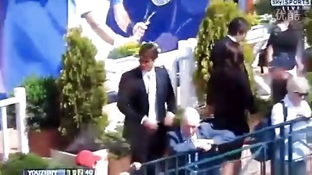 2011超帅西装费德勒携米尔卡在蒙特卡罗出席劳力士午餐会