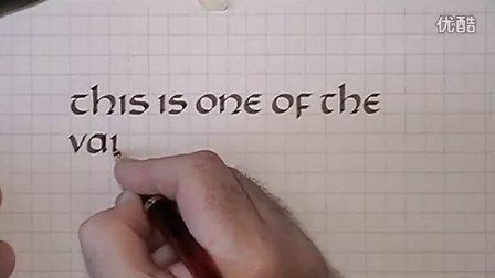 英文花体字教程22