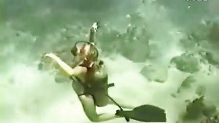 女潜水员溺水