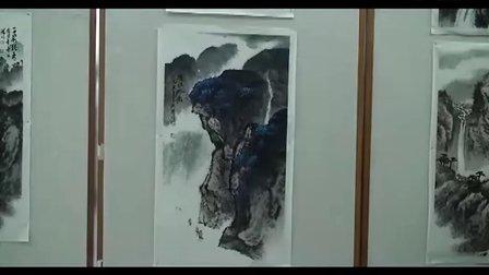 著名书画家 黄杰信 画展 作品 欣赏 牡丹 山水 书法1