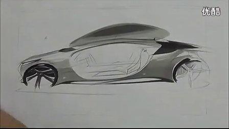 旅行车 side view 汽车设计手绘