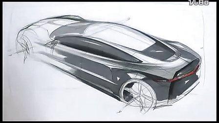 汽车设计侧顶45度 汽车设计手绘表达