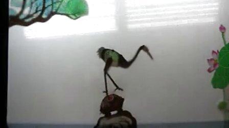 鹤与龟皮影