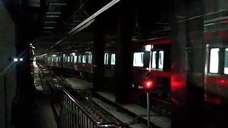 沈阳地铁1号线列车张士站折返1