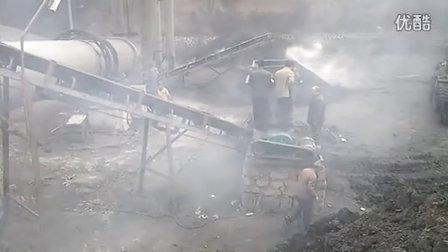 煤泥烘干机,泥煤烘干,山西现场,益工机械