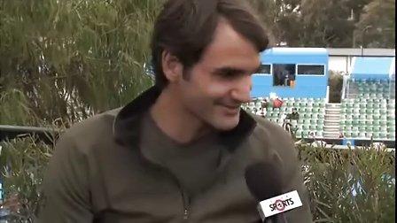 2012澳网 费德勒采访回答以后会否到荷里活演戏
