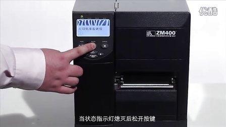 Zebra ZM400打印头测试PAUSE键自检