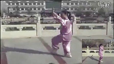 48式太极拳带口令背正向演示视频_标清