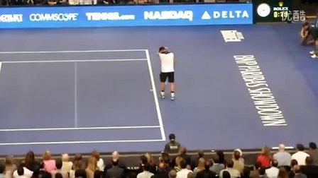 [爆笑]2012BNP纽约表演赛罗迪克模仿纳达尔(Federer vs Roddick)