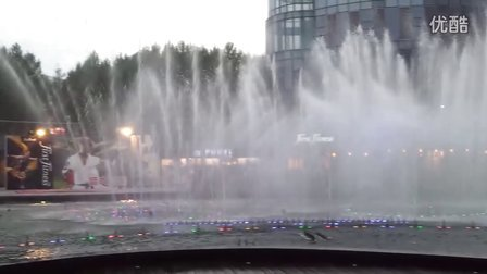 昆山百盛广场喷水表演