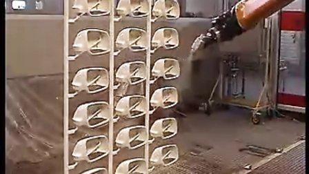 机器人喷涂后视镜
