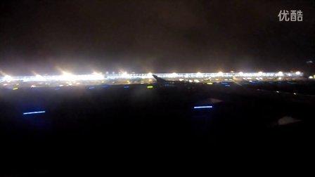 晚上上海浦东机场至重庆江北机场起飞全过程