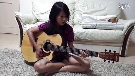 YUI cover Green a.live guitar 0725aniki