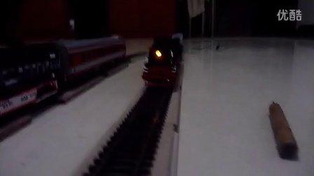 建设型蒸汽机车模型牵引最近新入车底