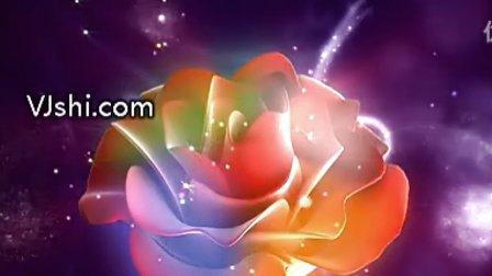 VJ师_视频素材_不错的玫瑰花紫色背景
