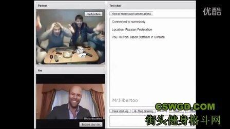 【搞笑】恶搞杰森.斯坦森在聊天轮盘上与俄罗斯小伙对话