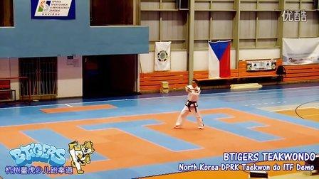 朝鲜跆拳道表演队ITF表演【杭州童虎少儿跆拳道出品】