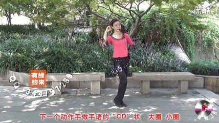 西湖莉莉广场舞-因为爱情(含正反面分解及正反面同步示范教学)