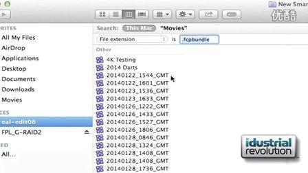 使用智能文件夹更快速的检索final cut pro x资源库文件