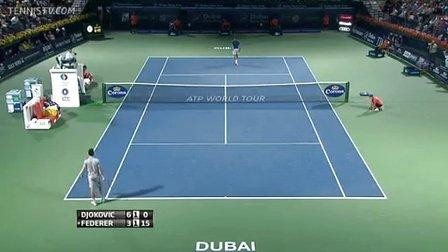 2014迪拜半决赛费德勒vs德约比赛完整视频