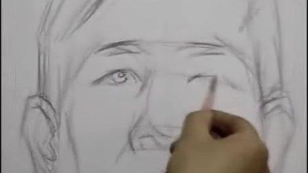 素描—头像写生示范