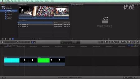 在 Final Cut Pro X 10.1复合片段时间线和项目时间线的理解