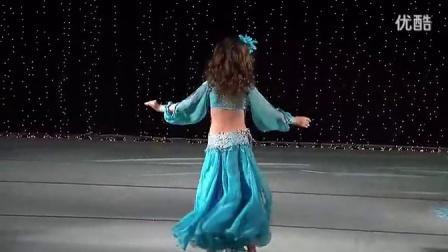夏娃东方舞 6岁小女孩的肚皮舞跳得太棒了!