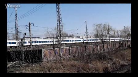 哈局王牌车T157次列车高速通过山海关站