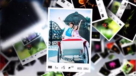 幸福天际线高清婚礼开场视频3D电子相册制作片头韩式服务创意