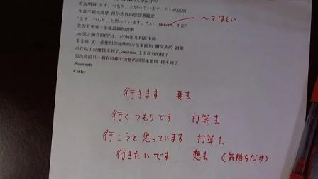 出口日语 Q&A ます つもり とおもっています たい ほしい 予定