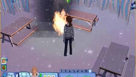 模拟人生3 着火的公园