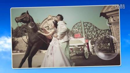 因为爱情《此款设计清新唯美》高清婚礼开场视频片头韩式服务创意