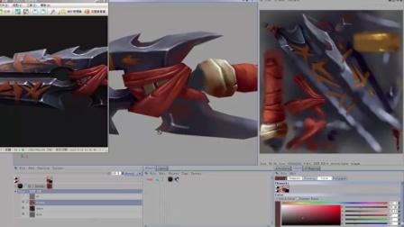 马叫兽魔兽战刀贴图绘制视频2