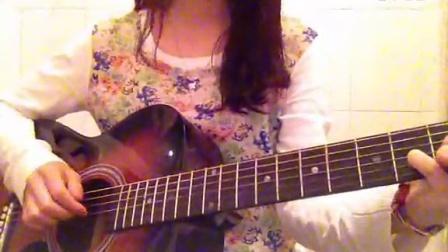 女生吉他弹唱  红豆