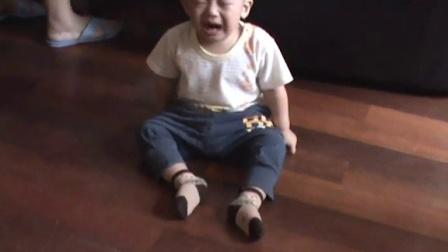 我的小外孙哭得萌不萌?