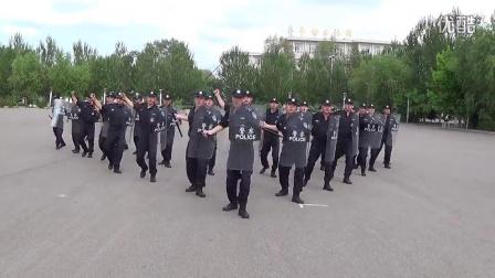 齐齐哈尔市公安局特警支队防暴队形演练