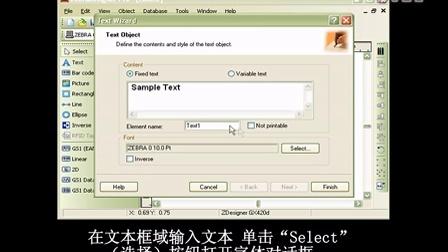 ZebraDesigner Pro 软件操作指南— 创建带固定数据的文本