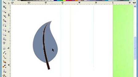 CDR教程 叶子的绘制
