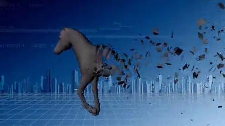 maya2009_horse 破碎效果
