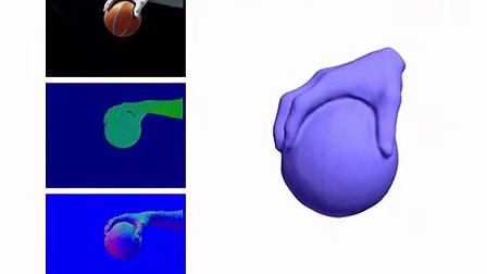 Real-Time Non-Rigid Reconstruction Using an RGB-D Camera