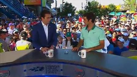 费德勒2014辛西那提R2和网球频道的访问超萌咯咯笑