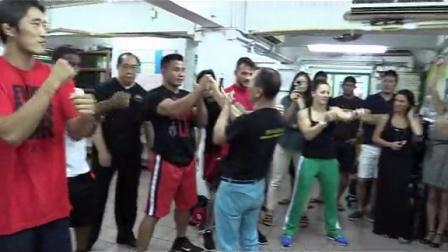 刘师傅指导世界级MMA选手咏春拳 part 1