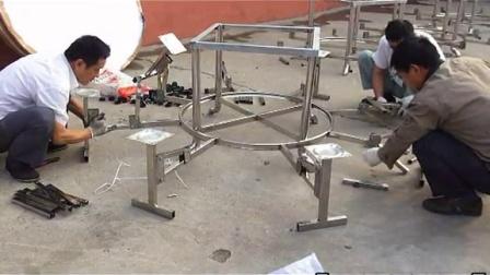 餐桌    不锈钢圆形折叠餐桌专供