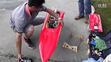 O型遥控快艇测试