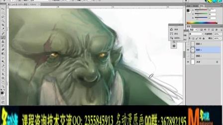 第四章:矮人的形体、装备和卡牌设计    名动漫CG插画教学视频
