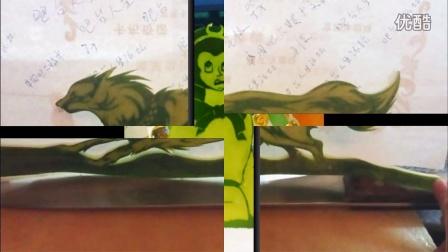 吧台人生论坛站长JX多年前的西瓜皮雕刻作品