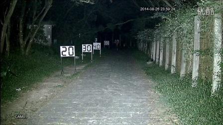 科宁摄像机 模拟高清 AHD 130W 3灯 白光夜视实际测试效果(请选择超清模式观看)